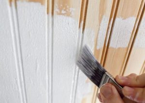 How to Paint Wood Paneling without Sanding