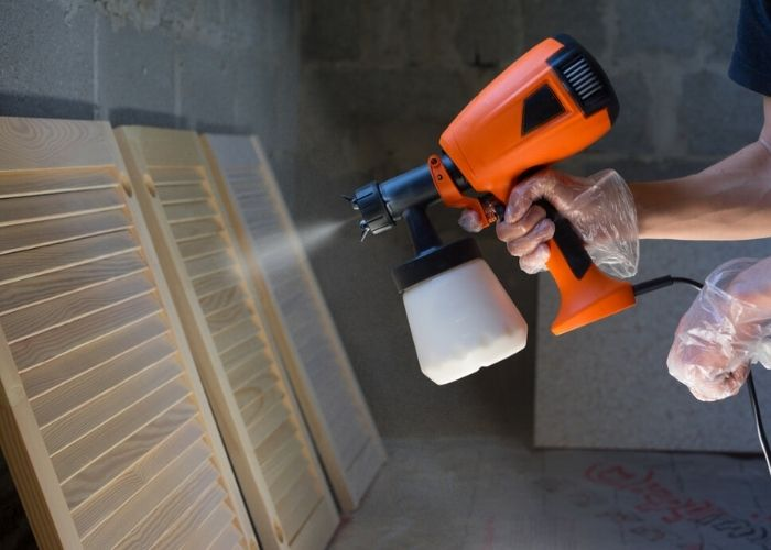 Spray Paint Furniture With A Spray Gun